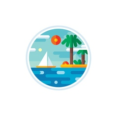 Summer vacation logo creative vector