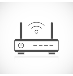Wireless router icon vector image