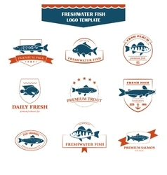 Perfect set of fish logos vector
