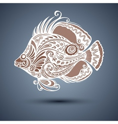 Abstract sea fish vector