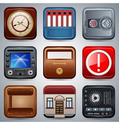 Application icons set vector