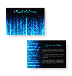 Bright invitation with neon light vector