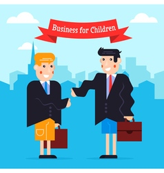 Business kids vector