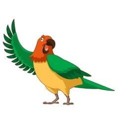 Cartoon Greeting Parrot vector image vector image