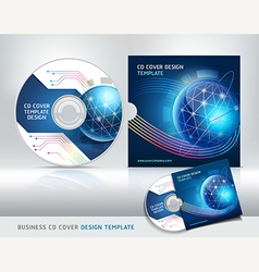 Cd cover design template abstract background vector