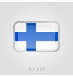Finland flag button vector image vector image