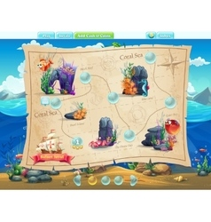 Fish world- example of selection of levels for the vector image