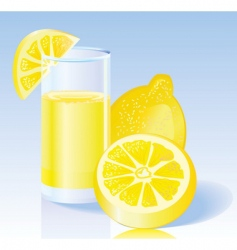 Fresh lemon juice vector