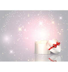 Gift box background vector image