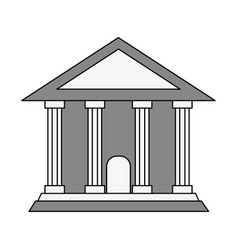 Greek building vector