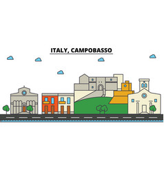 italy campobasso city skyline architecture vector image