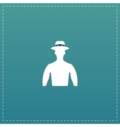 Man on hat avatar vector