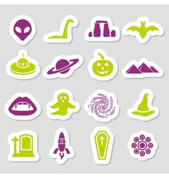 Mystic stickers vector