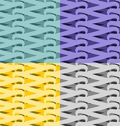 Netting seamless pattern Vite abstract background vector image
