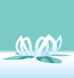 origami lotus flower vector image vector image
