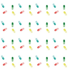 Pattern of capsules pills tablets medical seamless vector