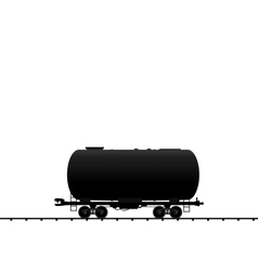 Petroleum cistern wagon freight railroad train bla vector