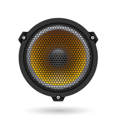 Realistic speaker on white for design vector