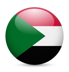 Round glossy icon of sudan vector