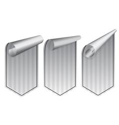 Silver stickers set vector image vector image