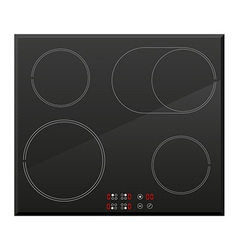 surface for electric stove 02 vector image