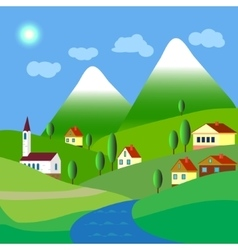 Village landscapes vector