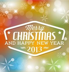 Vintage retro christmas label vector image vector image