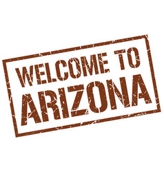 Welcome to arizona stamp vector