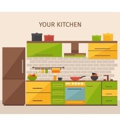 Kitchen Interior Design vector image