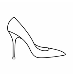 Women shoe with high heels icon outline style vector