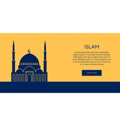 Mosque icon islam building banner vector