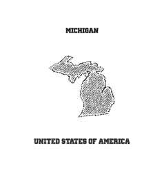 Label with map of michigan vector