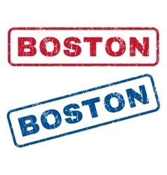 Boston rubber stamps vector