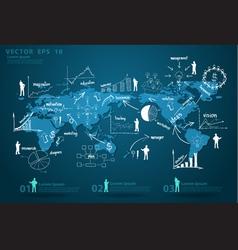 Modern global business economy vector image
