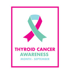 thyroid cancer awareness vector image