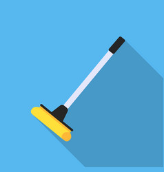 Mop flat icon for web and mobile vector