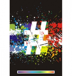 Paint splashes font vector