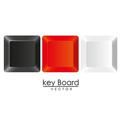 group of keys in three colors white black and red vector image