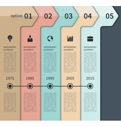 Modern timeline arrow infographics elements vector