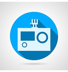 Flat icon for action camera vector