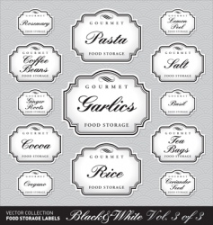 ornate food storage labels vol3 vector image