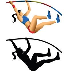 pole jump vector image