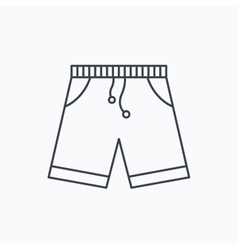 Shorts icon casual clothes shopping sign vector