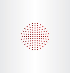 Red halftone design element icon vector