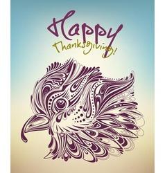 Thanksgiving bird vector