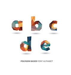 Polygonal colorful letters part of a to z set vector