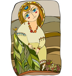 Girl in costume vector