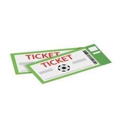 A pair of tickets for football isometric 3d icon vector