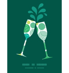 Abstract green circles toasting wine vector