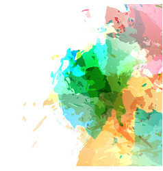 Bright modern paint colorful splatter vector